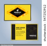 yellow and black modern... | Shutterstock .eps vector #547252912