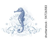 seahorse bay   retro summer... | Shutterstock .eps vector #54726583