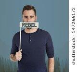 Small photo of Adult Male Rebel Caucasian Concept