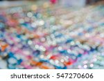 bokey colorful sunglasses on a ... | Shutterstock . vector #547270606