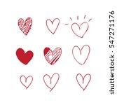 heart doodles  | Shutterstock .eps vector #547271176