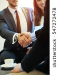 business people shaking hands ... | Shutterstock . vector #547272478