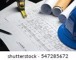 Engineering diagram blueprint...
