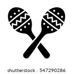 crossed maracas  rumba shakers... | Shutterstock .eps vector #547290286
