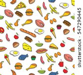 seamless colorful pattern with... | Shutterstock .eps vector #547290445