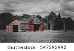 A Red Warehouse In Countryside...