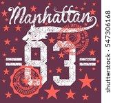 new york college basketball... | Shutterstock .eps vector #547306168