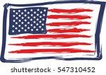 american flag grunge style... | Shutterstock .eps vector #547310452