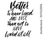 hand lettered inspirational... | Shutterstock .eps vector #547315096
