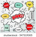 comic  speech bubbles in retro... | Shutterstock .eps vector #547319305