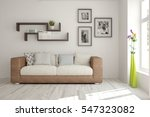 white room with sofa.... | Shutterstock . vector #547323082