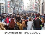 hundreds of diverse people... | Shutterstock . vector #547326472