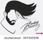 barbershop beard mustache... | Shutterstock .eps vector #547335358