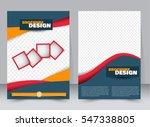 abstract flyer design... | Shutterstock .eps vector #547338805
