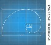 golden proportion on blueprint | Shutterstock . vector #547347526