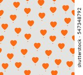 hearts. like icon for social... | Shutterstock .eps vector #547348792