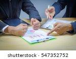hands of business people... | Shutterstock . vector #547352752