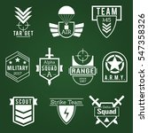 military army like badges white ... | Shutterstock .eps vector #547358326
