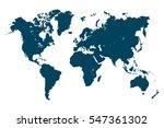 world map  denim blue  | Shutterstock .eps vector #547361302