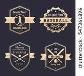 baseball club  team logo ... | Shutterstock .eps vector #547361896
