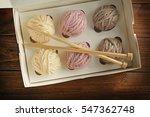 Balls Of Knitting Yarn In Box...