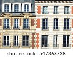 typical parisian architectural. ... | Shutterstock . vector #547363738