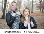 a blonde mother and her... | Shutterstock . vector #547370062