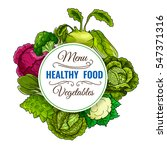healthy food vegetables poster... | Shutterstock .eps vector #547371316