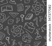 hand drawn study seamless...   Shutterstock .eps vector #547377082