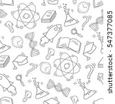 hand drawn science seamless... | Shutterstock .eps vector #547377085