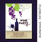Wine Party Leaflet Colorful...