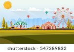 flat illustration of amusement... | Shutterstock .eps vector #547389832