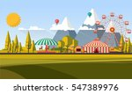 flat illustration of amusement... | Shutterstock .eps vector #547389976