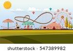flat illustration of amusement...   Shutterstock .eps vector #547389982