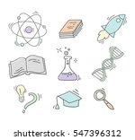 set of hand drawn science icons | Shutterstock .eps vector #547396312
