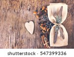 winter holiday dinner plate... | Shutterstock . vector #547399336