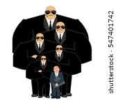 businessman with bodyguards.... | Shutterstock .eps vector #547401742