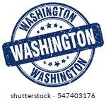 washington. stamp. blue round...