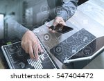 businessman hand using smart... | Shutterstock . vector #547404472