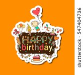 poster for the birthday...   Shutterstock .eps vector #547404736