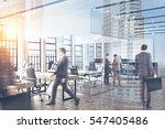business people walking in a... | Shutterstock . vector #547405486