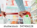 woman doing grocery shopping at ... | Shutterstock . vector #547406128