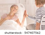 cancer woman lying in hospital... | Shutterstock . vector #547407562