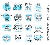 set of watercolor labels and... | Shutterstock .eps vector #547408312