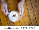 woman hands holding coffee cup... | Shutterstock . vector #547414762