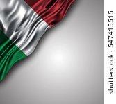 italian waving silky flag... | Shutterstock .eps vector #547415515