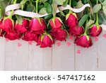 dark red buds of valentines day ... | Shutterstock . vector #547417162
