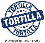 tortilla. stamp. blue round... | Shutterstock .eps vector #547417258