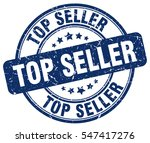 top seller. stamp. blue round... | Shutterstock .eps vector #547417276