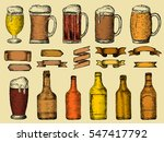 vector set of beer bottles and... | Shutterstock .eps vector #547417792
